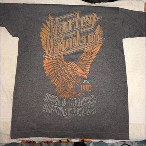 grey harley-davidson short sleeve